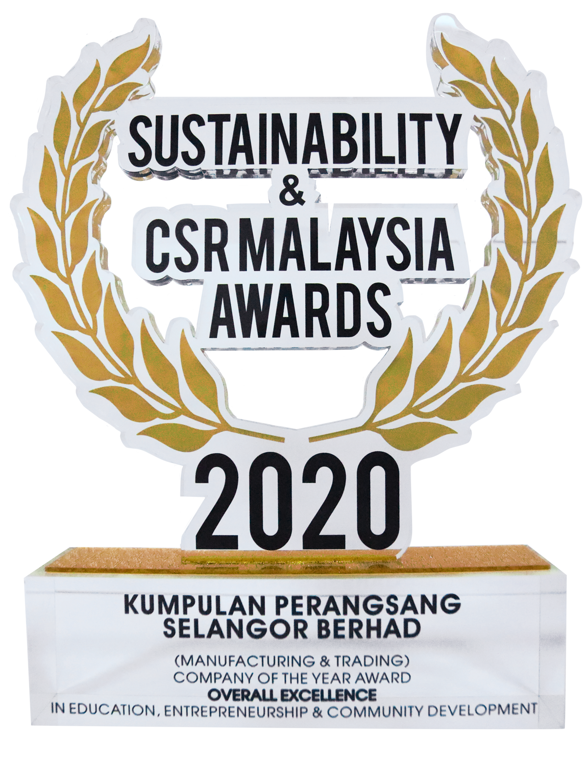 SUSTAINABILITY & CSR MALAYSIA AWARD 2020 COMPANY OF THE YEAR