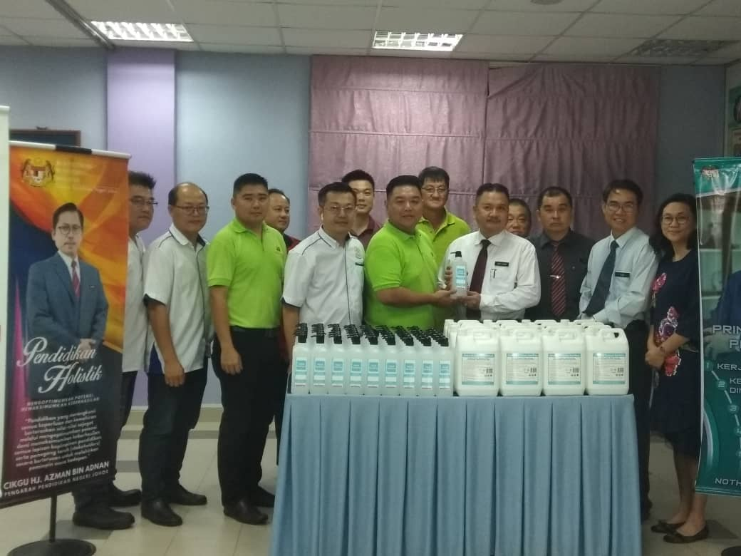 Contribution of Hand Sanitisers to Schools in Johor